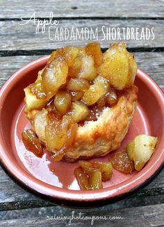 Apple Cardamom Shortbreads Recipe