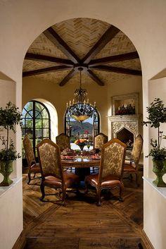 breakfast rooms, mediterranean homes, dining rooms, arizona homes, dine room, breakfast nooks, ceiling detail, dining room design, space design