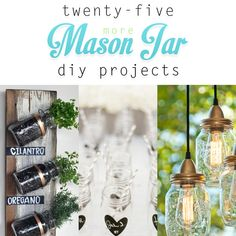 25 more Mason Jar DIY Projects - The Cottage Market