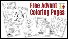 This page features the free Christmas coloring sheets designed to use during Advent season. More pages will be added through December 2010.