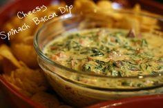 Cheesy Spinach Bacon Dip