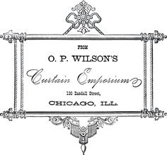 Vintage Curtain Emporium Label