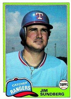 1981 Topps #95 Jim Sundberg - Texas Rangers (Baseball Cards) by Topps. $0.88. 1981 Topps #95 Jim Sundberg - Texas Rangers (Baseball Cards)
