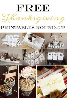 Free Thanksgiving Printables round-up from Somewhat Simple