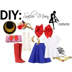 """DIY: Sailor Moon costume"" by theekissoflife on Polyvore"