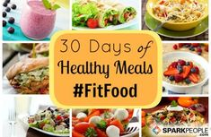 Get 30 days of #healthy meal plans for FREE right here. (That's 84 meals!) | via @SparkPeople #FitFood #healthyeating #nutrition