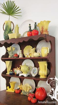 Vintage Yellow Pottery Collection