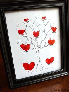 grandma gifts, thumbprint famili, mothers day, family trees, gift ideas