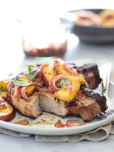 Grilled-Pork-Chops-and-Peaches-foodiecrush.com