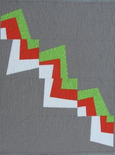 Modern Quilt Pattern Improv Pieced Pattern by ModernOrganicQuilter  Use this as an idea for a quilt back!