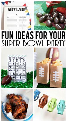 Super Bowl Party Ide