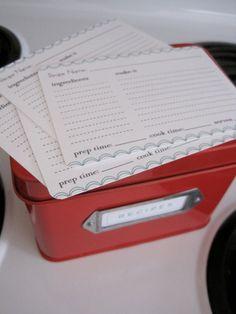 Printable recipe cards!