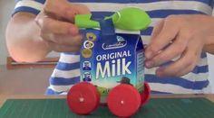 How to make a balloon-powered milk carton car - Kidspot
