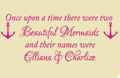 Twin Girls Wall DecalOnce upon a by VinylDesignCreations on Etsy, $16.00