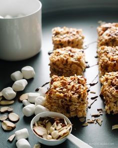coconut almond rice krispies - www.iamafoodblog.com #coconut #almonds #ricekrispies #recipe