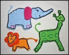 Zoodles - Crochet Applique   YouCanMakeThis.com