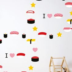 sushi wall decor.
