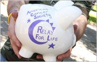 Relay for Life Piggy Bank - great fundraiser for little ones!