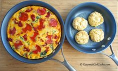 Gourmet Girl Cooks: Pizza-tata - Half Pizza & Half Frittata - Low Carb Awesomeness