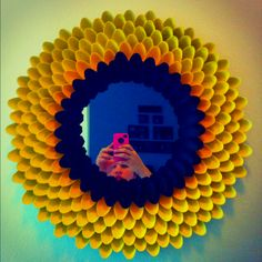 Flower spoon mirror