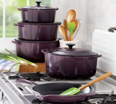 Le Creuset Cassis  A FRESH SHADE OF COOKWARE  We partnered with Le Creuset to bring you an amazing collection of stoneware, cast iron and kitchen tools in a gorgeous new color. Made in France since 1925.