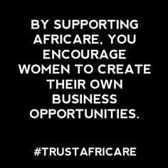 Deciding to support an organization requires trust. We know that trust is earned. Why should you trust Africare with your donation? You should trust us because we know that your donations are what sustain our work, so we will always make sure you know how we work. Honesty is Africare's policy. Believe that. #TrustAfricare trustafricar