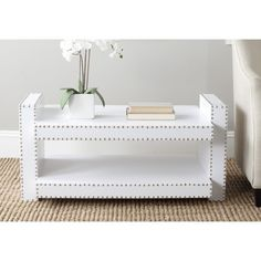 Safavieh Garson White Crocodile Coffee Table | Overstock.com Shopping - Great Deals on Safavieh Coffee, Sofa & End Tables