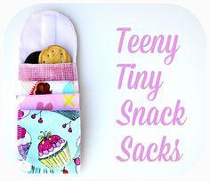 Teeny tiny snack sacks tutorial, sewing tutorial...so cute