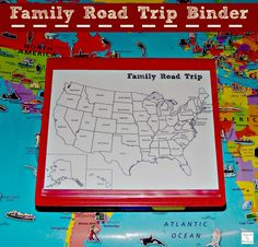 A great way to keep all papers (itinerary, tickets, brochures, etc) all together while traveling. - Family Road Trip Biner #travel http://mamato5blessings.com/2014/08/staying-organized-family-road-trip-binder/