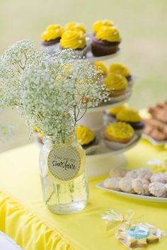 Sunshine Baby Shower Party!  See more party planning ideas at CatchMyParty.com!