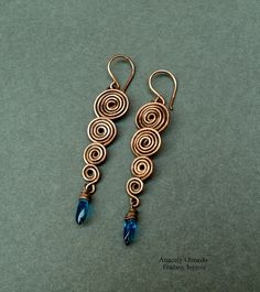 Fradany : Free earring tutorial: wire spirals