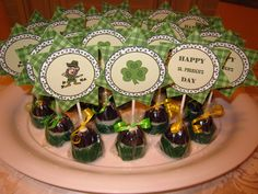 St. Patrick's Day - Bailey's Irish Cream Brownie Pops  Piece of Cake Event Planning!! Love! cake pop