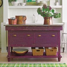 How to Paint a Crackle Finish on Furniture. Love this purple!  Paint: Benjamin Moore's Sweet Pea (base coat) and Autumn Purple (top coat)