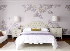 Purple paint color combination for bedrooms from Benjamin Moore.