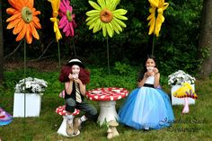 Alice In Wonderland Garden Tea Party via Kara's Party Ideas | Kara'sPartyIdeas.com #alice #in #wonderland #party #supplies #ideas