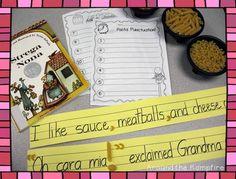 Pasta punctuation FREEBIE | Around the Kampfire tomi depaola, books, literaci, school, depaola book, kampfir, languag, pasta, grammar