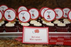 boxing glove cup cake toppers