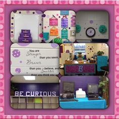 Teal/Turquoise, black, and purple classroom on Pinterest