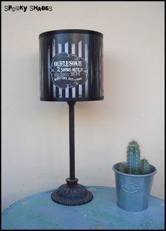 Burlesque Cabaret Lampshade lamp shade - burlesque decor, pinup decor, boudoir lamp shade, striped lamp shade. €45.00, via Etsy.