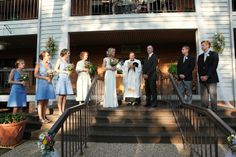 The front steps of The Iris Inn make a great stage for your big day. Visit http://www.irisinn.com/weddings.html for more information #BnB #wedding #venue