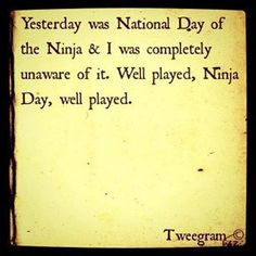 National Day of the Ninja