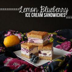 Lemon Blueberry Ice Cream Sandwiches // shutterbean