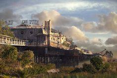 Imagined post-apocalyptic Brighton Pier.