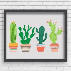 4 Cactus Print, 11x14