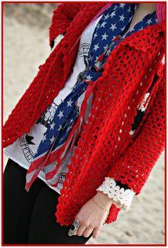 Cardigan crochet Lady Felicity!!