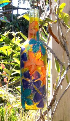 bottl wind, bottl paint, decor bottl, wine bottl, bottl art, bottle art
