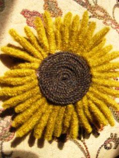 sunflower pin - tutorial
