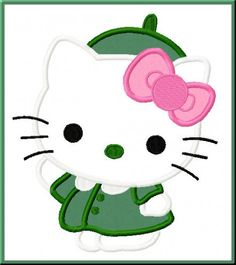 Kitty Brownie-Scout Embroidery Machine Applique Design