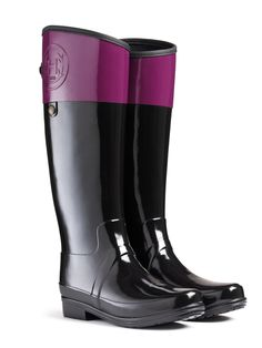 Simple Hunter Sandhurst Carlyle Riding Boots In Blue NAVYCHOCOLATE  Lyst