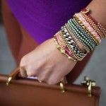 DIY braided bead bracelet via www.honestlywtf.com